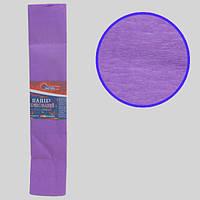 Креп-бумага 100%, сиреневый 50*200см, 20г/м2