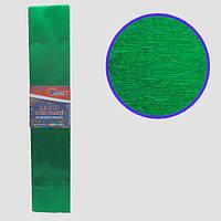 Креп-бумага 30%, металлик зеленый 50*200см, 50г/м2