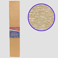 Креп-бумага 30%, перламутровый бронзовый 50*200см, 20г/м2