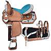 Седло вестерн Desert для пони, амуниция в комплекте