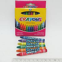 Мелки восковые Crayons, набор 12 цв.