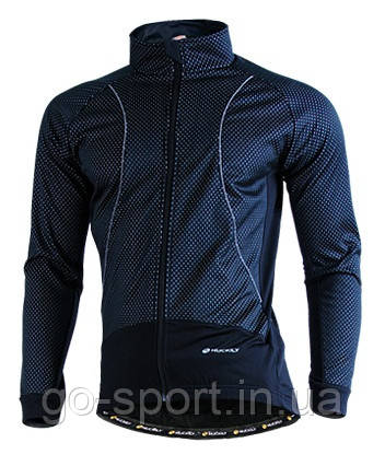 Велокостюм Nuckily черный, ветрозащитный и водоотталкивающий