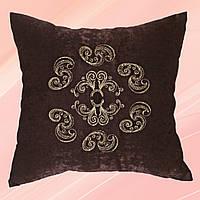 НОВИНКА! тильная подушка с вышивкой Украина ДП610 Нежность коричневая