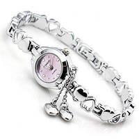 Женские часы-браслет Kimio K018 Два Сердечка фиолетовые, фото 1