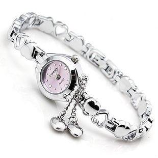 Женские часы-браслет Kimio K018 Два Сердечка фиолетовые