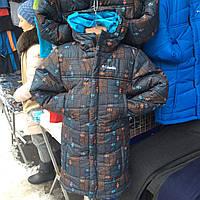 Детская длинная зимняя курточка на мальчика