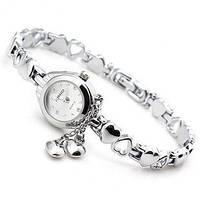 Женские часы-браслет Kimio K018 Два Сердечка белые