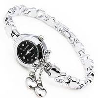 Женские часы-браслет Kimio K018 Два Сердечка черные
