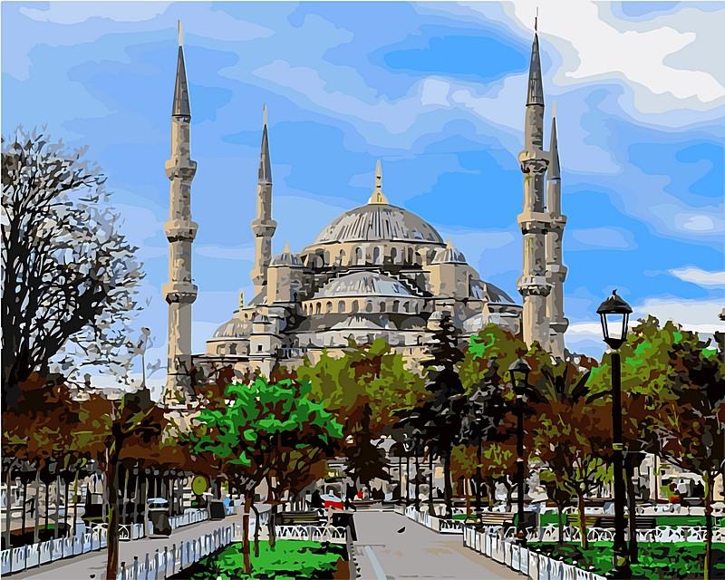 Картины по номерам 40 × 50 см. Стамбул Голубая мечеть