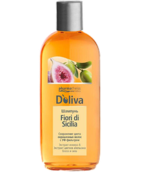 Doliva Шампунь Fiori di Sicilia для сохранения цвета окрашенных волос, 200 мл