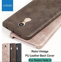 Чехол X-level Vintage+стекло для Xiaomi Redmi Note 4 ( Helio X20 НЕ ДЛЯ ГЛОБАЛЬНОЙ ВЕРСИИ ).