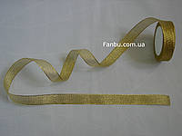 """Блестящая лента""""парча"""",цвет золотой(ширина2.5см)на метраж, фото 1"""