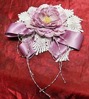 Елочная игрушка Цветок фиолетовый с прошвой