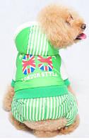Комбинезон для животных Добаз , Dobaz British school зеленый