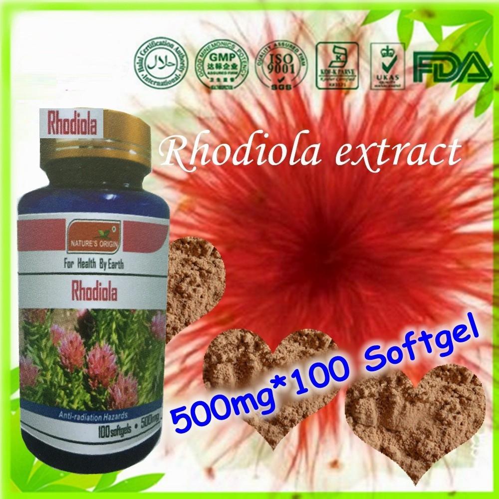 Капсулы Родиола Rhodiola, экстракт Родиола розовая натуральный адаптоген, 100 шт.