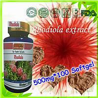 Капсулы Родиола Rhodiola, экстракт Родиолы розовой натуральный адаптоген, 100 шт.