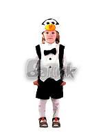 Костюм карнавальный Пингвин, меховый, 28 размер