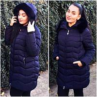 Тёплая зимняя женская куртка холлофайбер в больших размерах в расцветках  (DG-р7088)