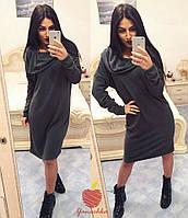 Утепленное платье с капюшоном / трехнитка / Украина, фото 1