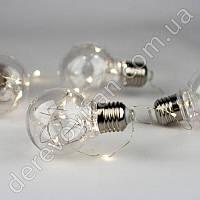 Гирлянда из пластиковых лампочек и диодов
