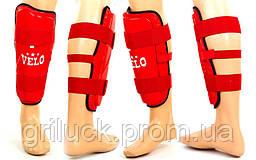 Спортивная защита для ног голени и стопы красная Velo