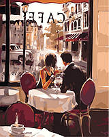 "Раскраски по номерам 40 × 50 см. ""Французское кафе"" худ. Brent Heighton"