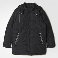 Мужская зимняя парка adidas Hooded Outdoor Black (Артикул: AY9869)