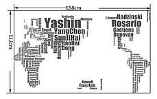 """Наклейка на стену, большая футбольная карта в офис, в детскую, в школу """"карта мира"""" 188*112см(2листа 60*90см), фото 2"""