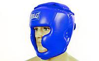 Боксерский шлем для спаррингов полная защита синий Everlast