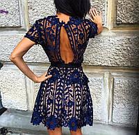 Платье Ткань : дорогой гипюр , все швы (кромки) обработаны кружевом подкладка плотный микродайвинг роле №3040