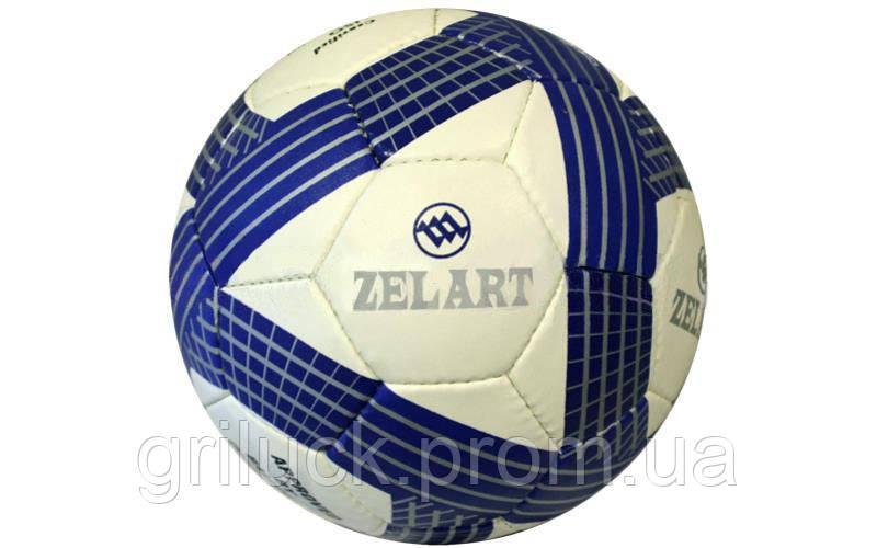 Мяч футбольный белый Zelart