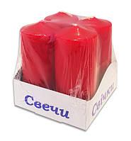 Свечи столбы новогодние интерьерные красные 40х80