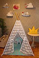 """Детский игровой домик, вигвам, палатка, шатер, шалаш """"Серый зигзаг"""", фото 1"""