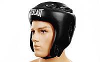 Защитный шлем для бокса открытый черный Everlast