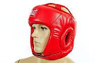 Защитный шлем для бокса открытый красный Everlast