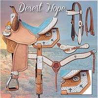 Седло Desert Hope американское в стиле вестерн для лошади, комплект