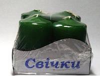 Свечи столбы интерьерные зеленые 40х60 (4 шт.)