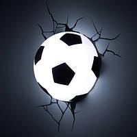 Детский светильник Футбольный мяч  (3D светильник)