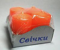 Свечи столбы интерьерные оранжевые 40х60 ( 4 шт.)