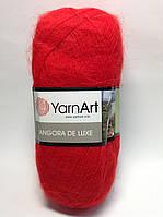 Пряжа angora de luxe - цвет красный