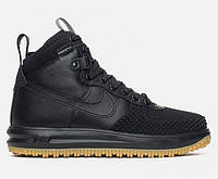"Кроссовки зимние Nike Lunar Force 1 Duckboot ""Black"""
