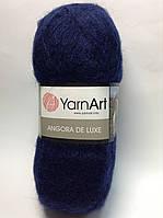 Пряжа angora de luxe - цвет темно-синий