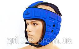 Шлем для единоборств синий Zelart