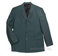 Пиджак подростковый для мальчика Юность 814 зеленый 46 (Р-170, ОГ-92, ОТ-81)