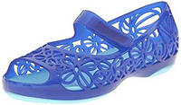 Кроксы crocs Isabella Jelly Flat ice blue