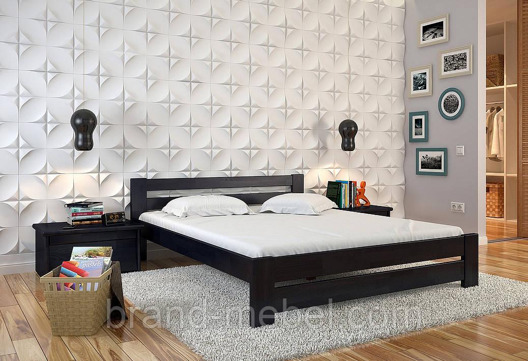 Ліжко дерев'яне двоспальне Симфонія  / Кровать деревянная двуспальная Симфония