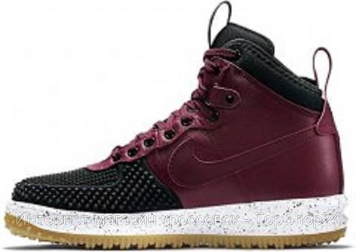 "Кроссовки зимние Nike Lunar Force 1 Duckboot ""Black/Red""."