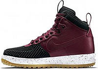 "Кроссовки зимние Nike Lunar Force 1 Duckboot ""Black/Red""., фото 1"
