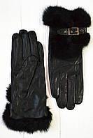 Кожаные перчатки с мехом - Большие