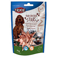 Trixie Premio Fish Chicken Stars лакомство для собак с курицей и минтаем, 75г
